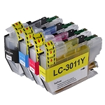 4 Pack of Compatible Brother LC-3011 Ink Cartridge