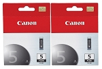 2 Pack of Genuine Canon PGI-5  Black Ink Cartridge
