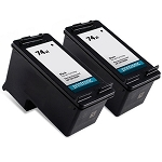 Compatible HP 74XL (CB336WN) Black Ink Cartridge - 2 Pack
