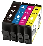 4 Pack of Compatible HP 902 Ink Cartridge