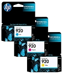 Genuine HP 920 Color Ink Cartridge - 3 Pack