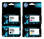 GENUINE NEW HP 920 (CD971AN/CH634AN/CH635AN/CH636AN) Ink Cartridge No Packaging 4-Pack