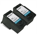 Compatible Canon PG-210 and Canon CL-211 Ink Cartridge 2-Pack