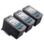 Compatible Canon PG-40 Black Ink Cartridge and Canon CL-41 Color Ink Cartridge 3 Pack