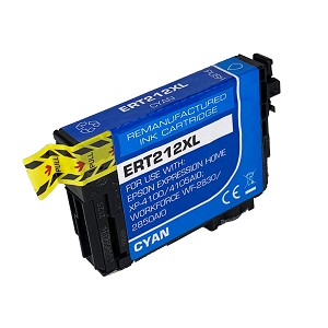 Remanufactured Epson 212 212XL Cyan Ink Cartridge