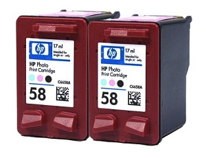 GENUINE NEW HP 58 (C6658AN) Photo Color Ink Cartridge No Packaging 2-Pack