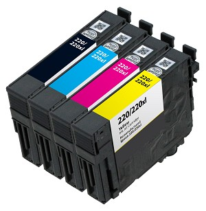 4 Pack Remanufactured Epson 220XL Ink Cartridge