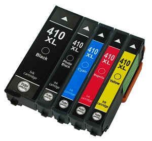 5 Pack Remanufactured Epson 410 410XL Ink Cartridge
