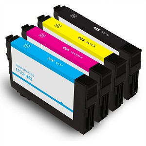Remanufactured Epson 802 for WorkForce Pro WF-4730 WF-4740 WF-47434 WF4-720 (4 Pack)