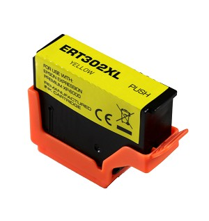Remanufactured Epson 302 302XL Yellow Ink Cartridge