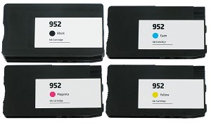 4 Pack of Remanufactured HP 952 Ink Cartridge with New Chip