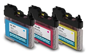 Compatible Brother LC-61 C/M/Y Ink Cartridge Set - 3 Pack