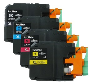 GENUINE NEW Brother LC103 Ink Cartridge in Vacuum Packaging 4-Pack