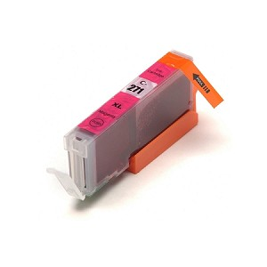 Remanufactured Canon CLI-271XL (0338C001) Pigment Magenta Ink Cartridge w/ Chip