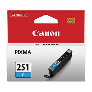 Genuine Canon CLI-251 (6514B001) Cyan Ink Tank