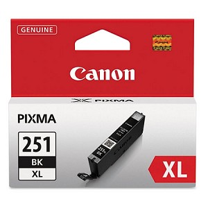 Genuine Canon CLI-251XL (6448B001) High Yield Black Ink Tank