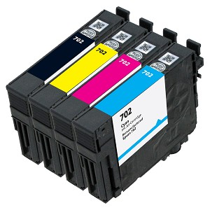 4 Pack Remanfactured Epson 702 Ink Cartridge