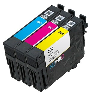 3 Pack Remanufactured Epson 200 C/M/Y Ink Cartridge
