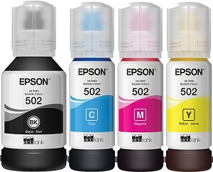 4 Pack of Genuine Epson 502 Ink Bottle