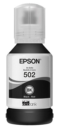 Genuine Epson 502 Black Ink Bottle