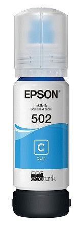 Genuine Epson 502 Cyan Ink Bottle