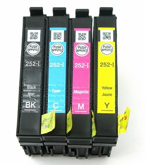 Genuine Epson 252-I Initial Ink Cartridge 4-Pack