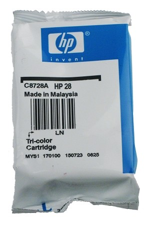 GENUINE NEW HP 28 (C8728AN) Color Ink Cartridge Foil Packaging