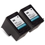 Compatible HP 60 (CC640WN) Black Ink Cartridge 2 Pack