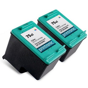 Compatible HP 75XL (CB338WN) Color Ink Cartridge - 2 Pack
