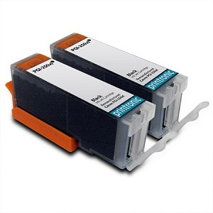 2 Pack Compatible Canon PGI-250XL (6432B001) Black Ink Cartridge