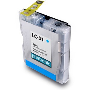 Compatible Brother LC-51C Cyan Ink Cartridge