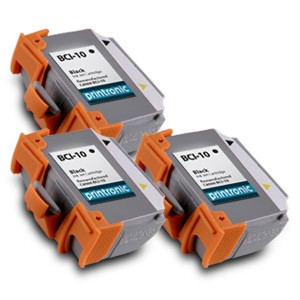 Compatible Canon BCI-10Bk (0956A003) Black Ink Cartridge 3 Pack