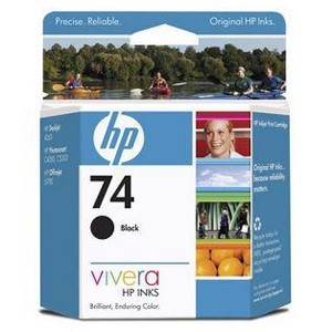 Genuine Hewlett Packard (CB335WN) HP 74 Black Ink Cartridge with Vivera Ink