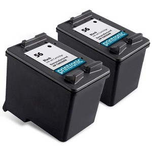 Compatible HP 56 (C6656AN) Black Ink Cartridge - 2 Pack