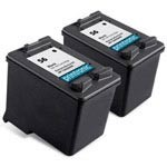 2 Pack Compatible HP 56 (C6656AN) Black Ink Cartridge