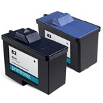 Compatible Lexmark 82 Black Ink Cartridge and Lexmark 83 Color Ink Cartridge - 2 Pack
