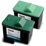 2 Pack Compatible  Dell T0529/Series 1 Black Ink Cartridge and Dell T0530/Series 1 Color Ink Cartridge