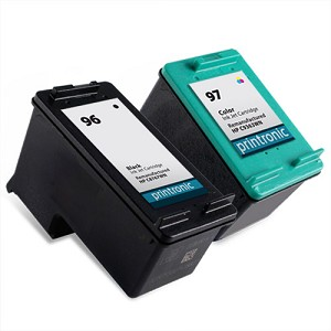 2 Pack of Compatible HP 96 Black and HP 97 Color Ink Cartridge