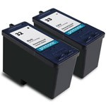 Compatible Lexmark 32 Black Ink Cartridge and Lexmark 33 Color Ink Cartridge - 2 Pack