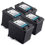 4 Pack Compatible HP 21 (C9351AN) Black Ink Cartridge