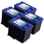 4 Pack Compatible HP 22 (C9352AN) Color Ink Cartridge