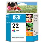 Genuine Hewlett Packard (C9352AN) HP 22 Tri-Color Ink Cartridge