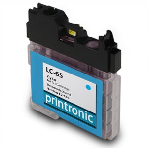 Compatible Brother LC-65C High Yield Cyan Ink Cartridge