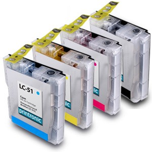 Compatible Brother LC-51 BK/C/M/Y Inkjet Cartridge Set - 4 Pack