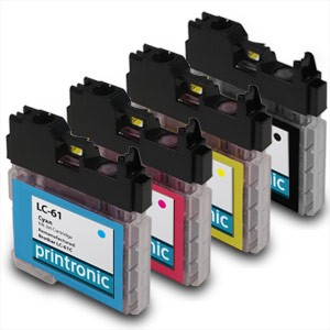 Compatible Brother LC-61 BK/C/M/Y Inkjet Cartridge Set - 4 Pack