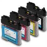 4 Pack Brother LC-61BK,C/M/Y Compatible Inkjet Cartridge Set