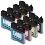 8 Pack Brother LC-61BK,C,M,Y Compatible Inkjet Cartridge Set