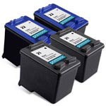 4 Pack Compatible HP 21 Black Ink Cartridge and HP 22 Color Ink Cartridge