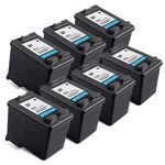 7 Pack Compatible HP 27 (C8727AN) Black Ink Cartridge