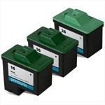Compatible Lexmark 16 Black Ink Cartridge and Lexmark 26 Color Ink Cartridge - 3 Pack